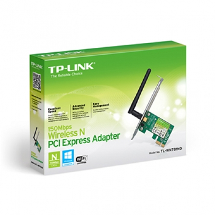 1952 PLACA DE REDE PCI-EXPRESS WIRELESS 150MBPS TL-WN781ND - TP-LINK